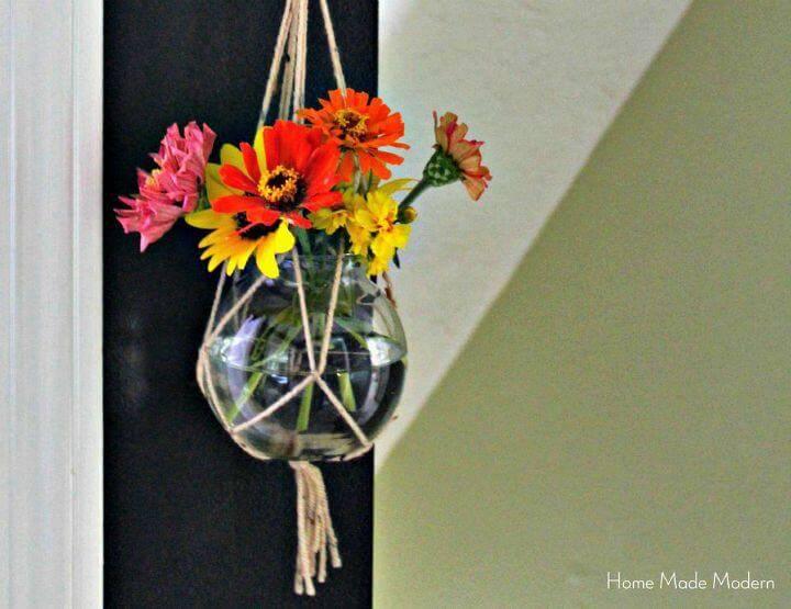 DIY A Macrame Hanging Plant Holder
