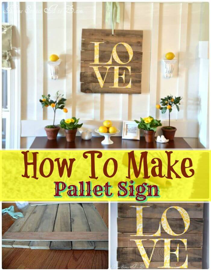 How To Make A Pallet Sign