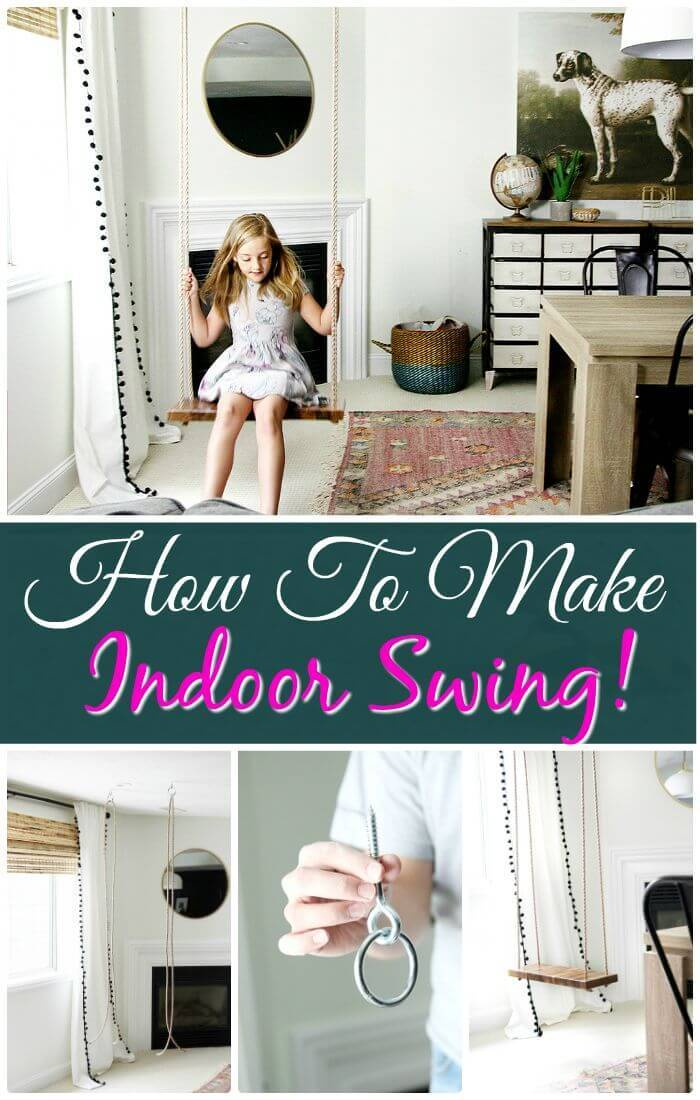 Easy DIY Indoor Swing - Step By Step Instructions
