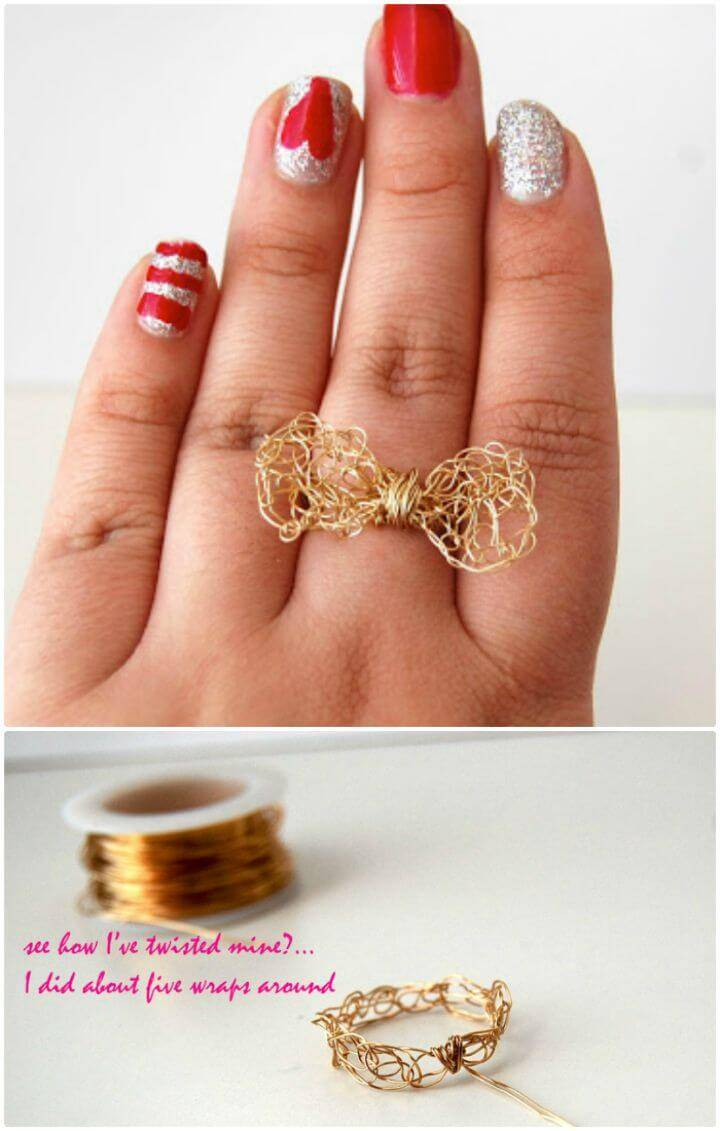 Free Crochet Bow Ring Pattern