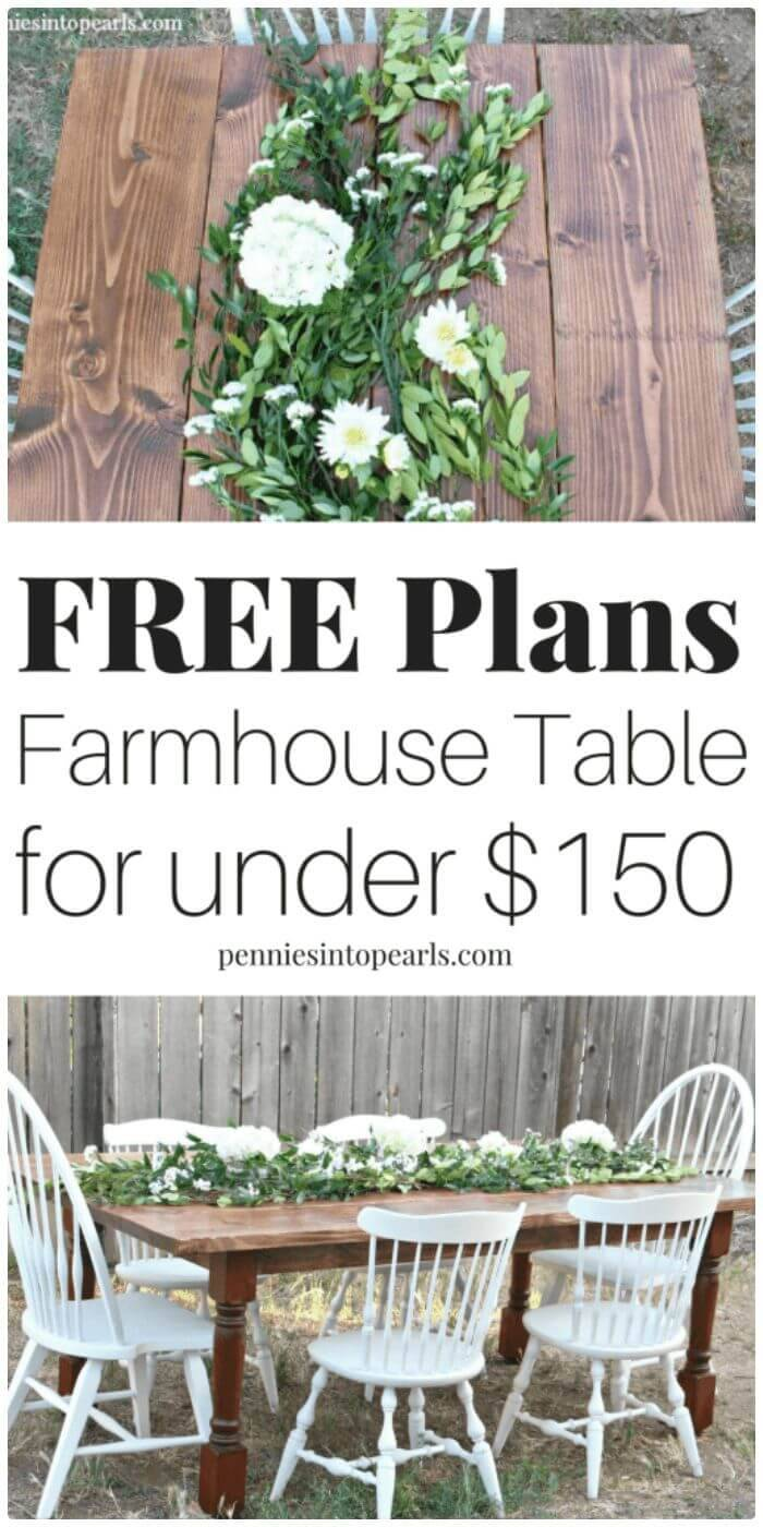 DIY A Farmhouse Table For Under $150