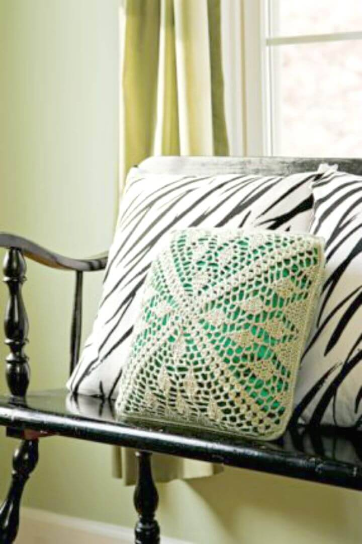 Free Crochet A Satin And Lace Pillow Pattern
