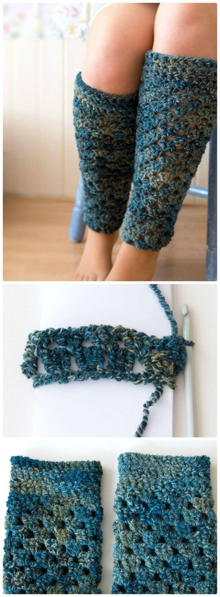 Free Crochet a Pair of Leg Warmers Pattern