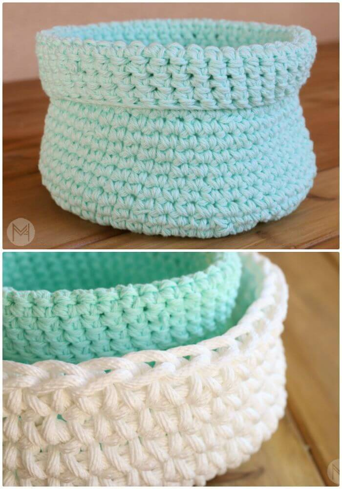 How To Easy Free Crochet Simple Basket Pattern