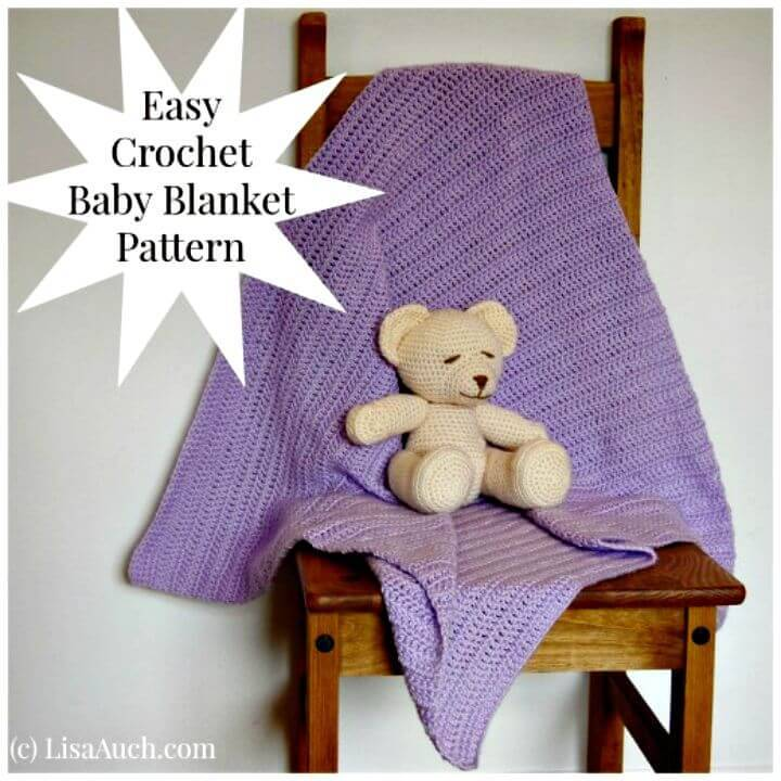 How To Crochet An Easy Baby Blanket Ideal For Beginners - Free Pattern And Tutorial