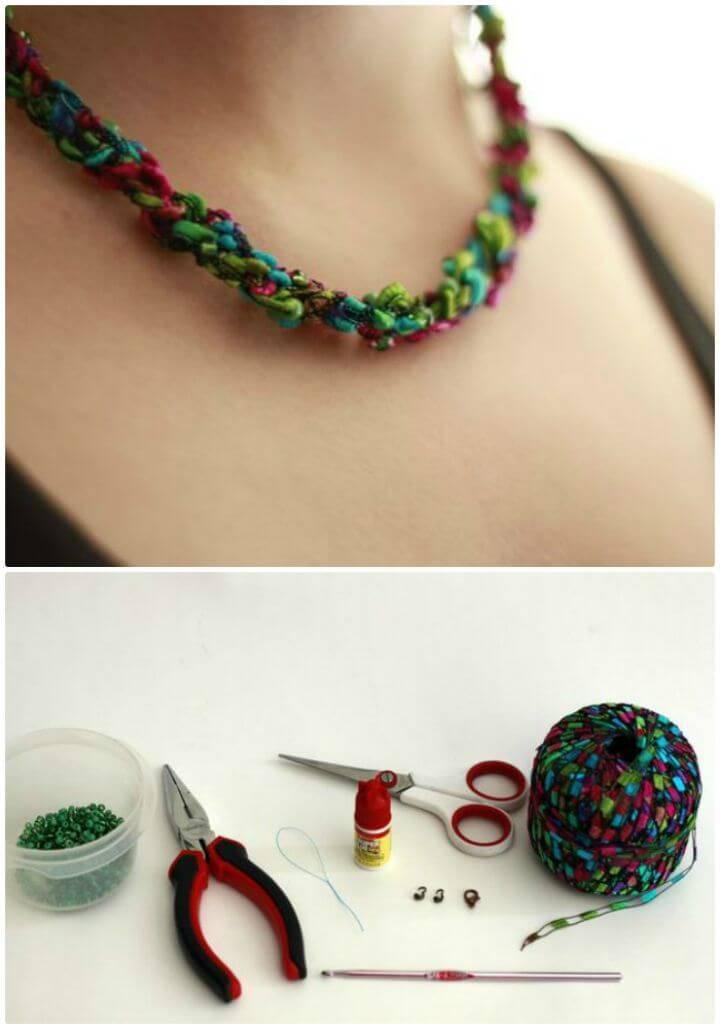 Crochet Necklace 27 Free Crochet Patterns Diy Crafts
