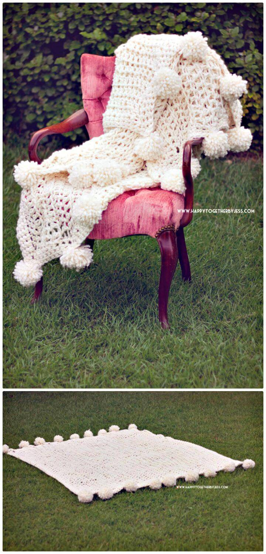 How To Make A Pom-Pom Free Crochet Blanket Pattern