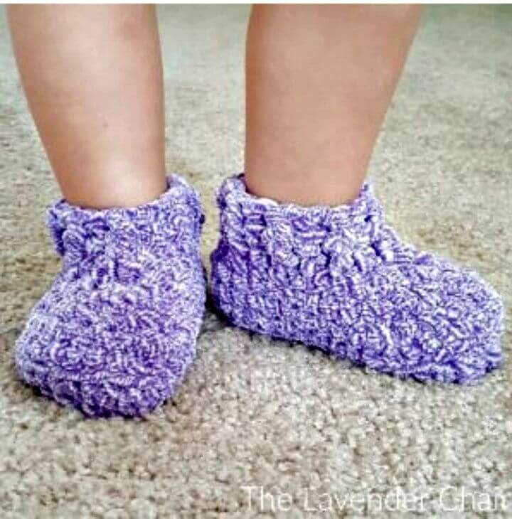 Free Crochet Little Slippers Pattern