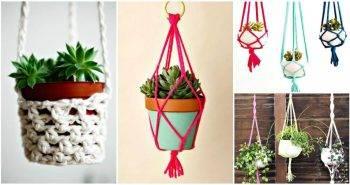 Macrame Plant Hanger - 100 Best Macrame Ideas for Hanging Plants - DIY Planters