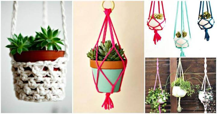 diy macrame hanging planter macrame plant hanger 100 best macrame ideas for hanging 9313