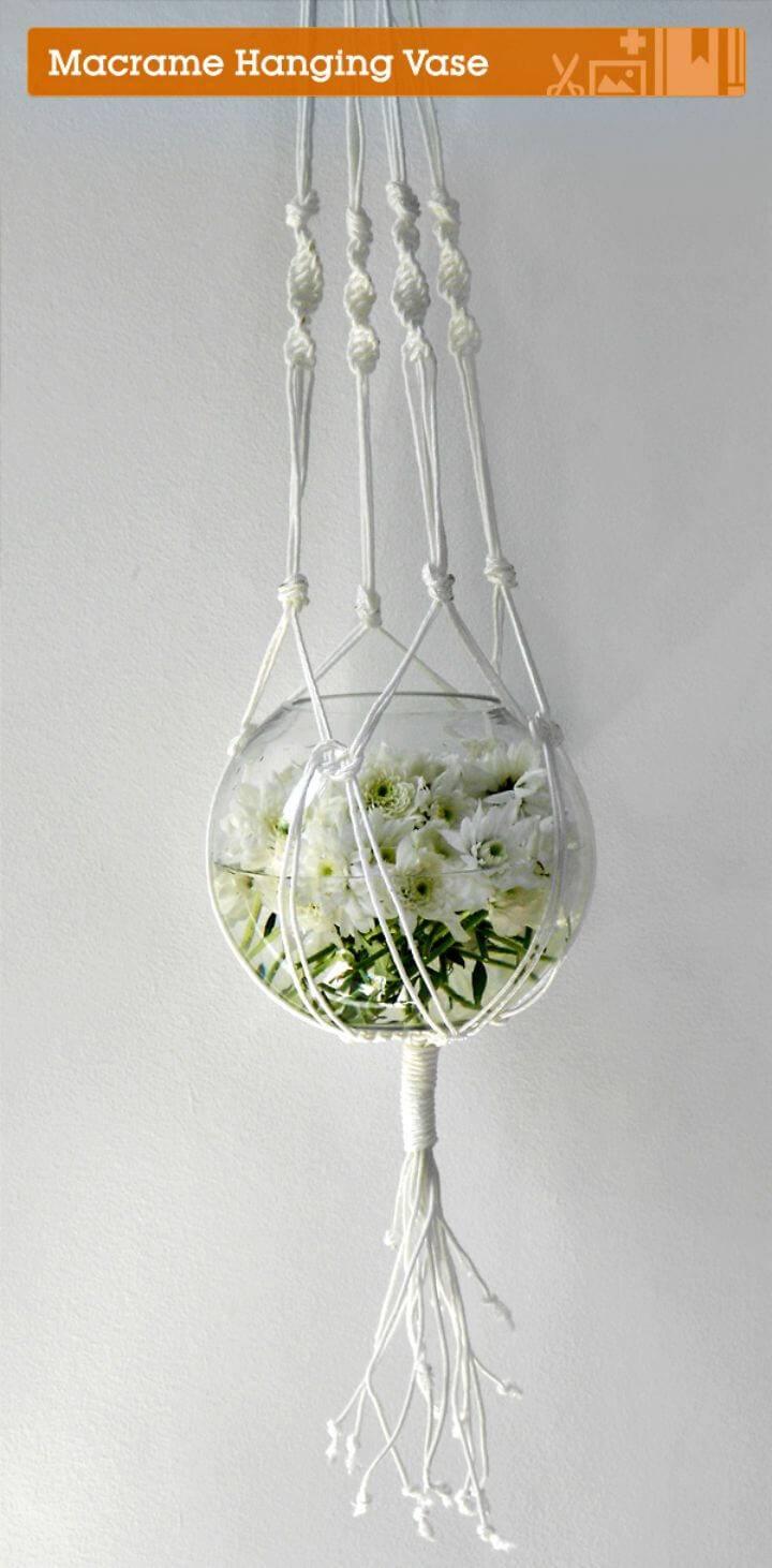 How To Make A Stunning Macrame Hanging Vase