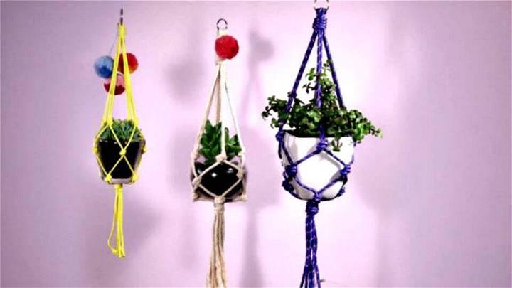free macrame plant hanger instructions