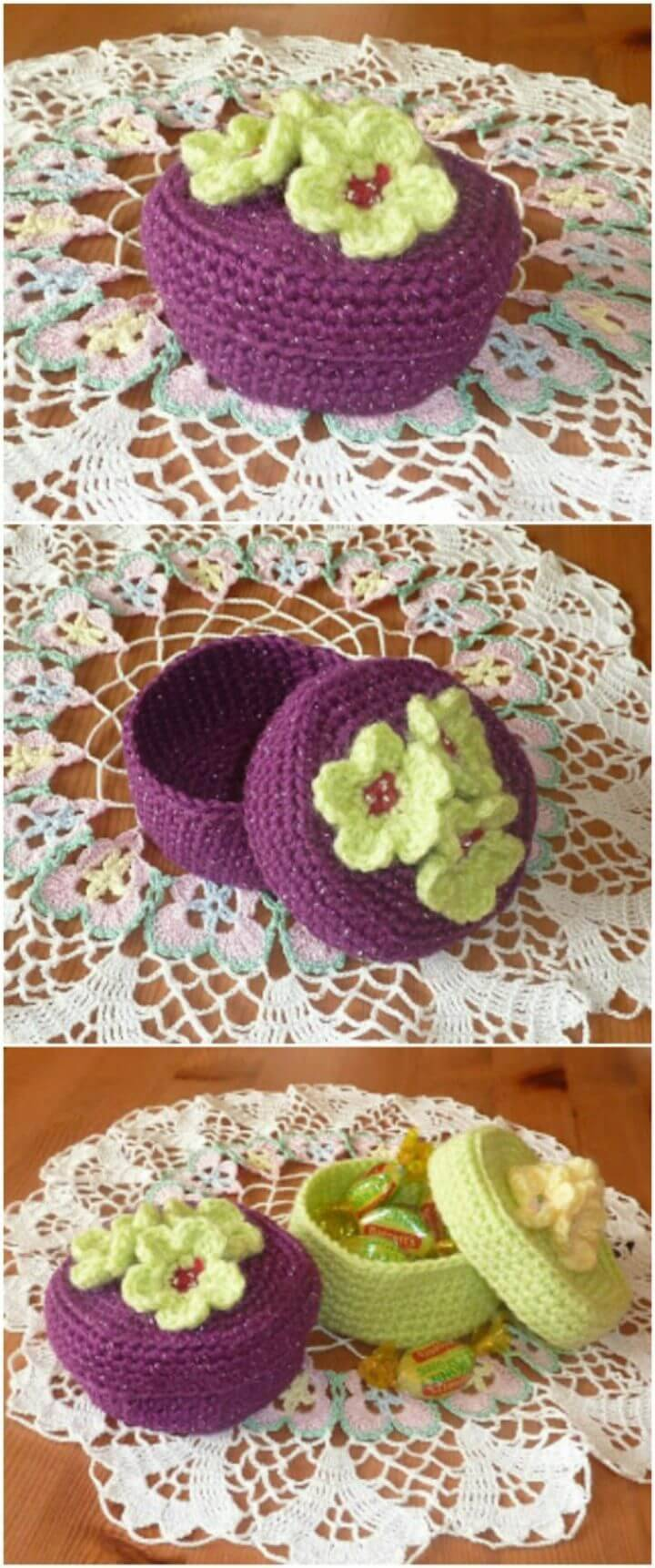 Make Your Own Crochet Trinket Boxes