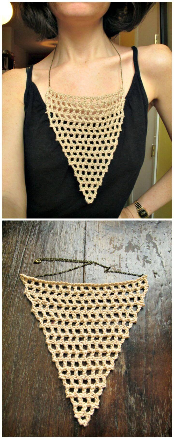 Crochet Necklace - 27 Free Crochet Patterns - DIY & Crafts