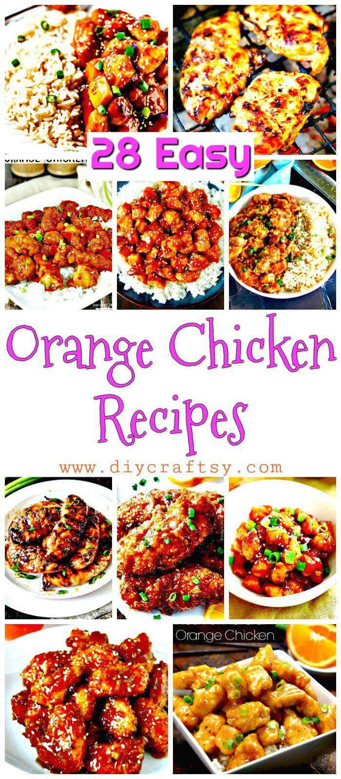 Orange Chicken Recipes - Easy Orange Chicken Recipe Ideas