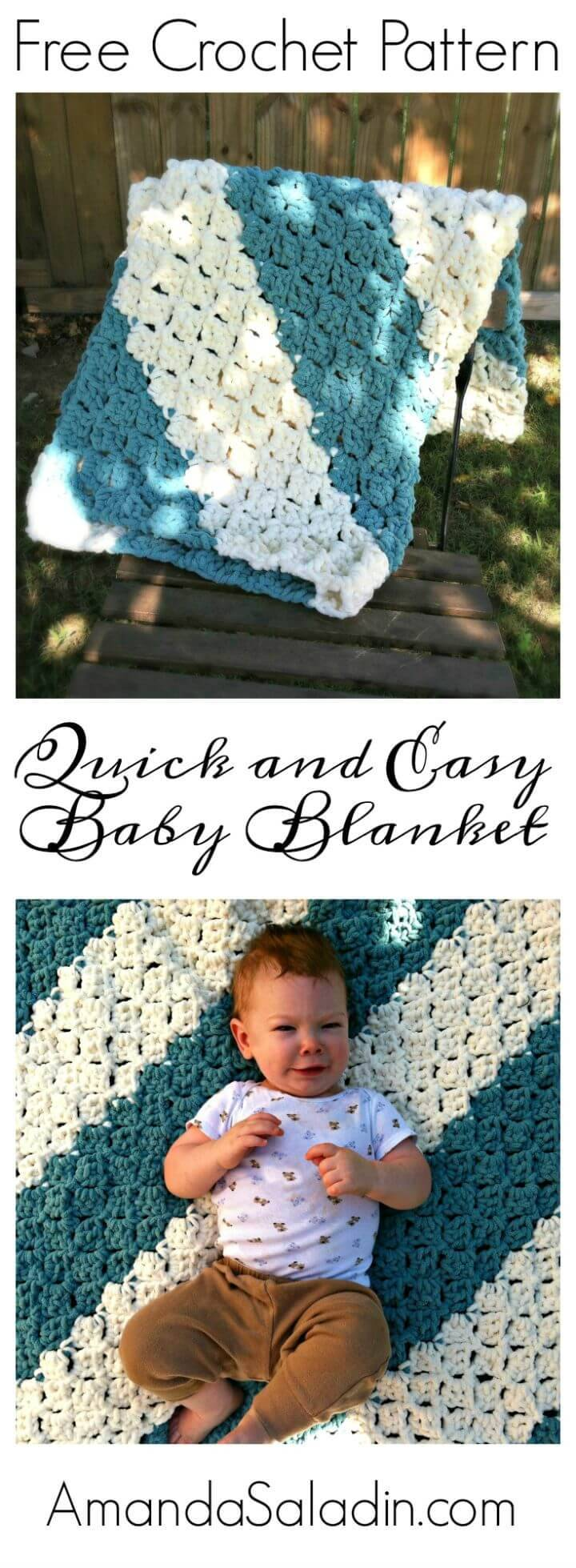 Quick and Easy Baby Blanket – Free Crochet Pattern