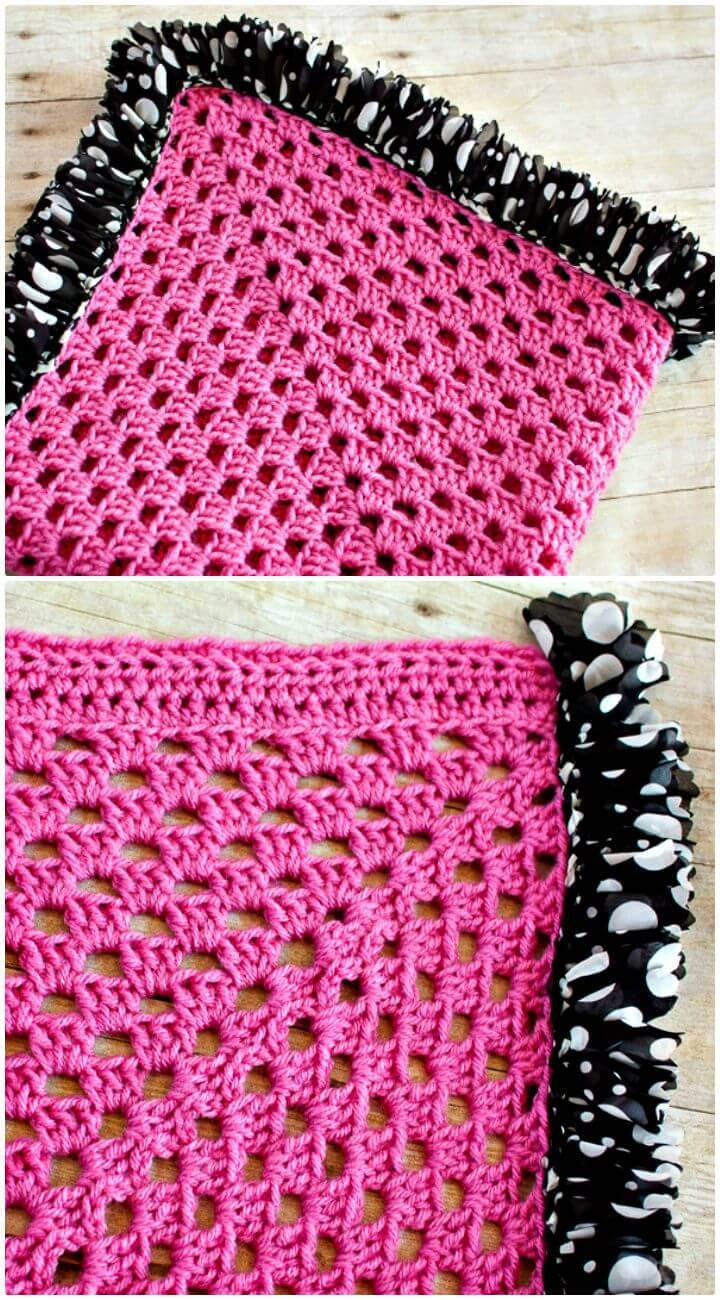 How To Ruffle Edged Crochet Baby Blanket - Free Pattern