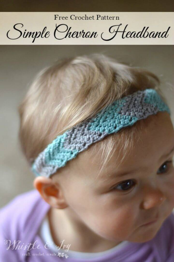 How To Crochet Chevron Headband - Free Pattern