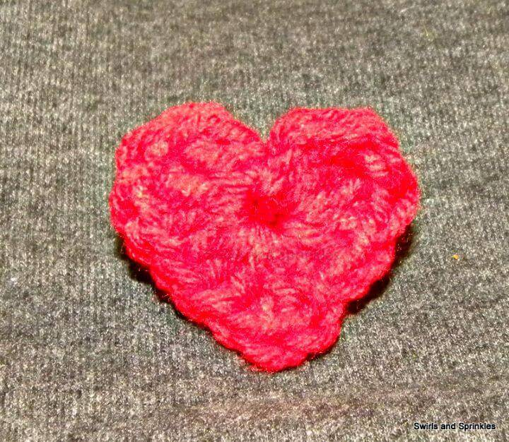 How To Free Simple Crochet Heart Pattern