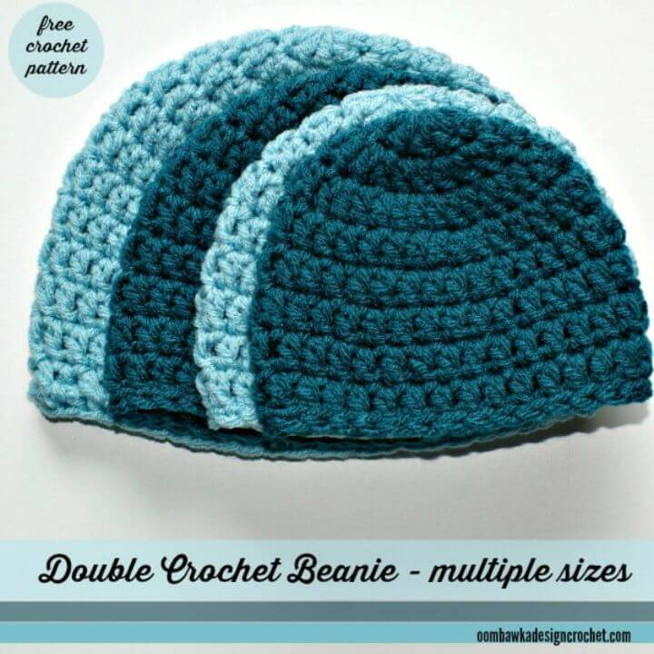 How To Simple Double Crochet Hat – A Free Crochet Pattern