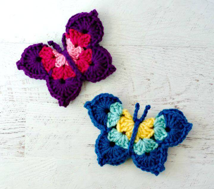 Simple Free Crochet Butterfly - Free Pattern
