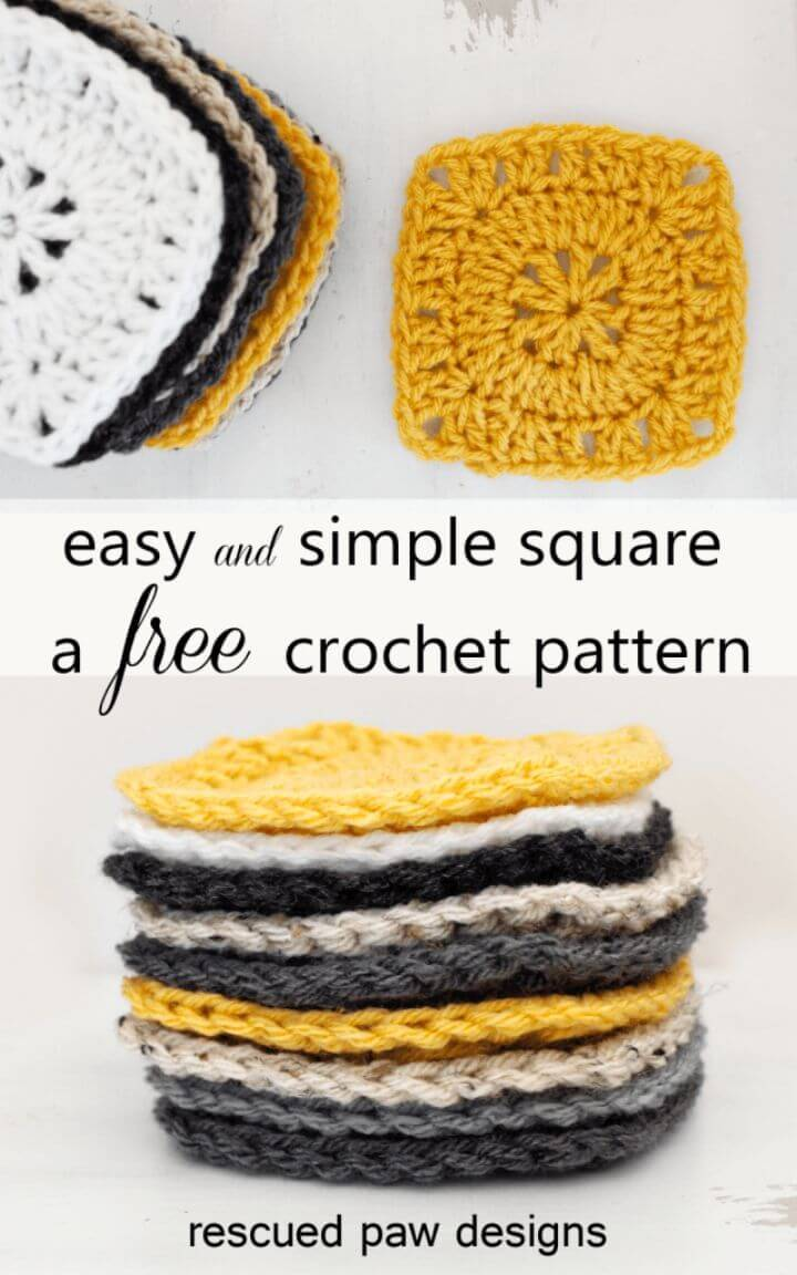 Simple Free Crochet Square Pattern