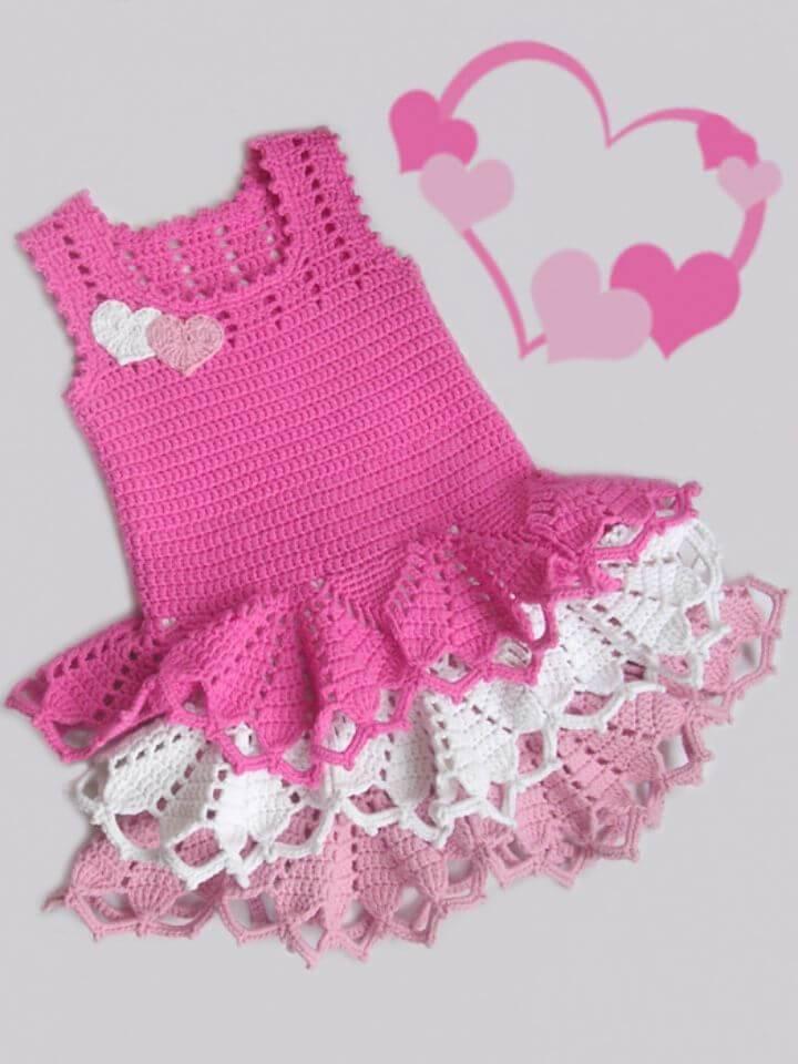 Free Crochet Valentine's Dress Pattern