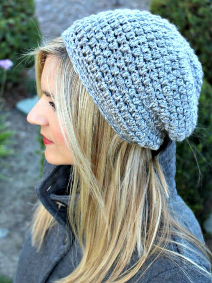 How To Free Crochet Slightly Slouchy Hat Pattern
