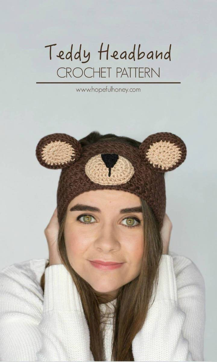 Make A Adorable Teddy Bear Headband - Free Crochet Pattern