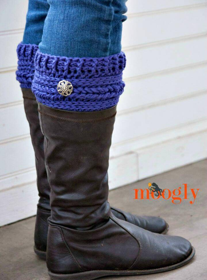 Free Crochet Ups and Downs Boot Cuffs