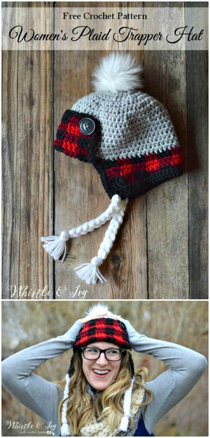 Women's Free Plaid Trapper Hat