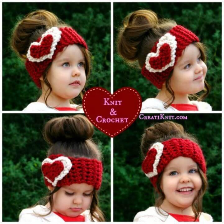 Free Crochet Heart Head Warmer Patterns