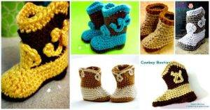 Crochet Cowboy Boots Patterns and Crochet Cowboy Hat Pattern - Free Crochet Patterns