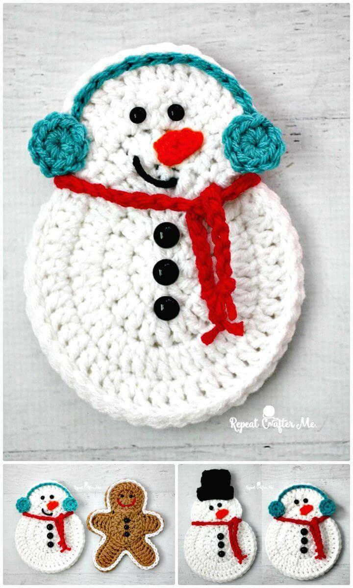 Amazing Free Crochet Snowman Pattern