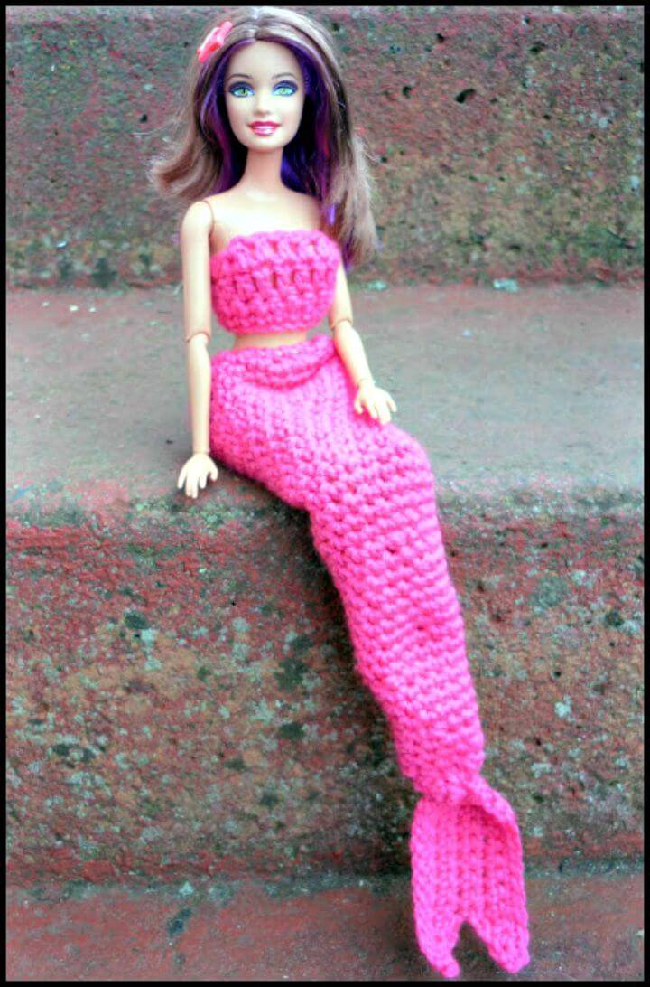 Crochet Barbie Mermaid Tail - Free pattern