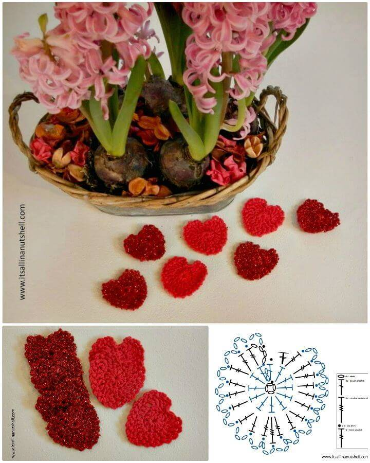 Easy Be My Valentine Heart Garland – Free Crochet Pattern
