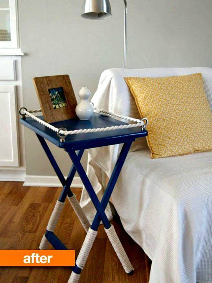 How To Build TV Tray Table Gets Decked Out
