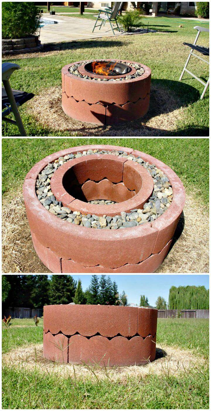 How To Building A Fire Pit Using Concrete Tree Rings Under $50