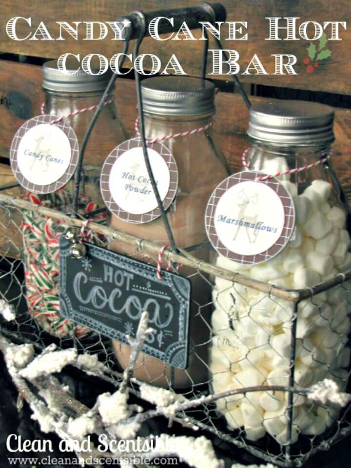 DIY Candy Cane Hot Cocoa Bar Gift