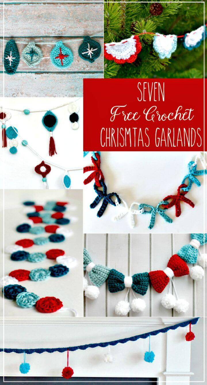 Easy Free Crochet Circle Holiday Garland Pattern
