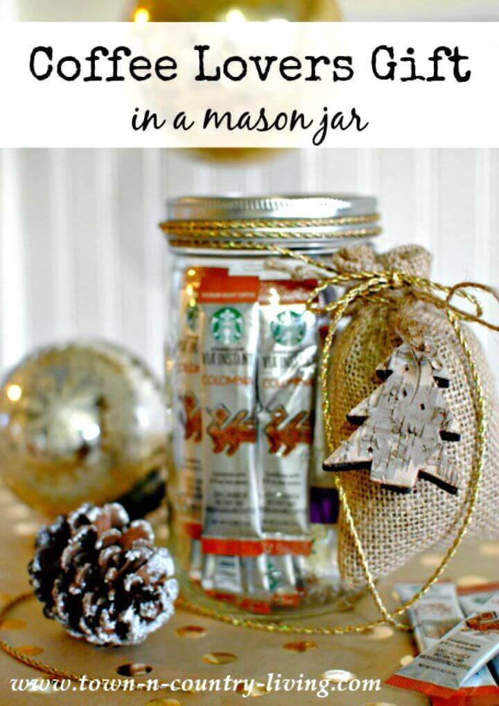 Easy DIY Coffee Lovers Gift in a Mason Jar