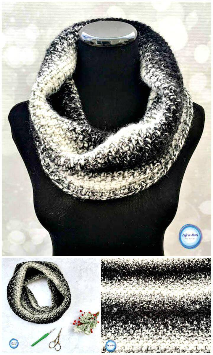 Free Crochet Cookies And Cream Cowl Pattern