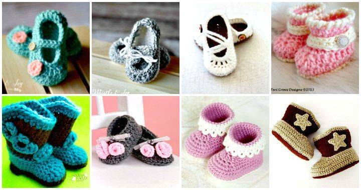 e9033e11d Crochet Baby Booties - 55 Free Crochet Patterns for Babies - DIY Crafts