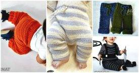 Crochet Baby Pants - 9 Free Patterns