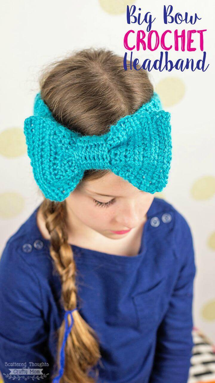 Crochet Big Bow Headband - Free Pattern