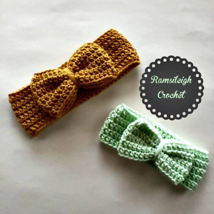 Free Crochet Bow Head-wrap Pattern