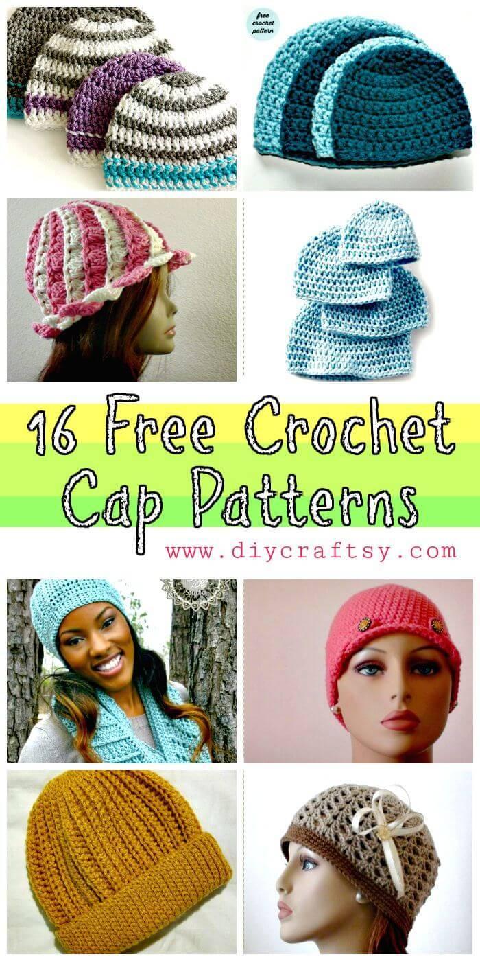 16 free crochet cap patterns crochet hat diy crafts crochet cap patterns crochet hat patterns baditri Images