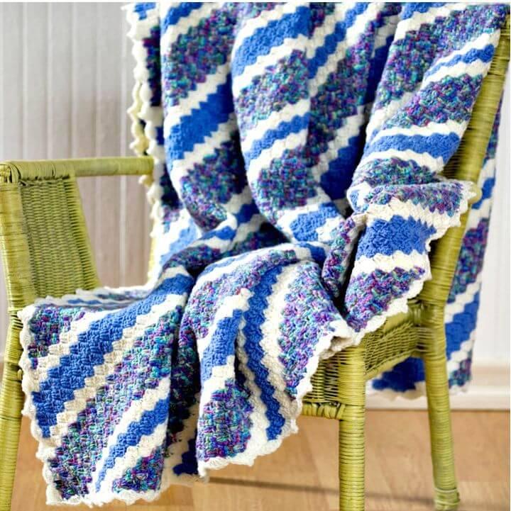 How To Crochet Corner-To-Corner Throw – Free Pattern