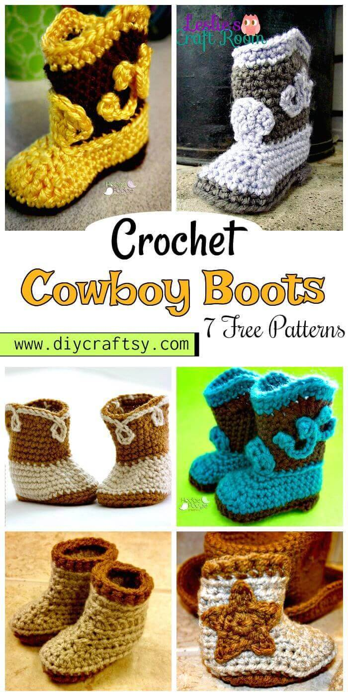 Crochet Cowboy Boots Patterns