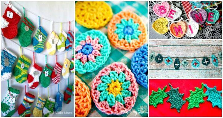Crochet Garland Pattern - 73 Free Crochet Garland Ideas - DIY & Crafts